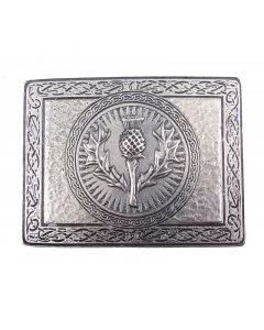 Belt Buckle with Thistle