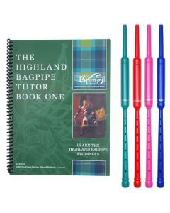 Highland Bagpipe Tutor Book 1 with Colour Practice Chanter