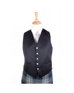 Black Five Button Vest